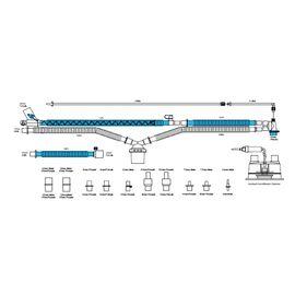 Viomedex Дыхательный контур с обогревом в линии вдоха и влагосборником в линии выдоха с набором коннекторов для вентиляторов разных производителей — фото 1