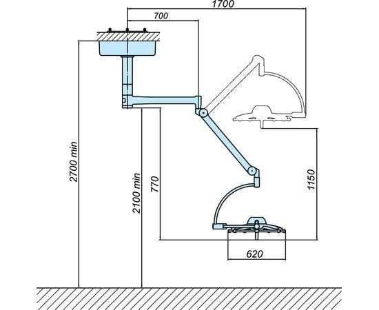 Светильник операционный потолочный «ЭМАЛЕД 500» — фото 2