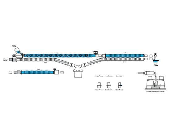 Viomedex Дыхательный контур с обогревом в линии вдоха и влагосборником в линии выдоха для Babylog 8000 — фото 1